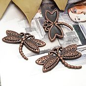Материалы для творчества handmade. Livemaster - original item Pendant Dragonfly color Copper (Ref. 1670). Handmade.
