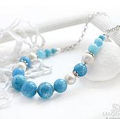 Украшения handmade. Livemaster - original item Necklace with quartz and pearls