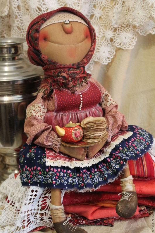 Коллекционные куклы ручной работы. Ярмарка Мастеров - ручная работа. Купить Блинки-блиночки!. Handmade. Комбинированный, интерьерная кукла, ткань