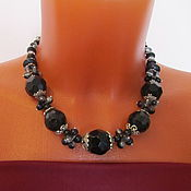 Украшения handmade. Livemaster - original item Office decoration, Boho Decoration, necklace of black onyx. Handmade.