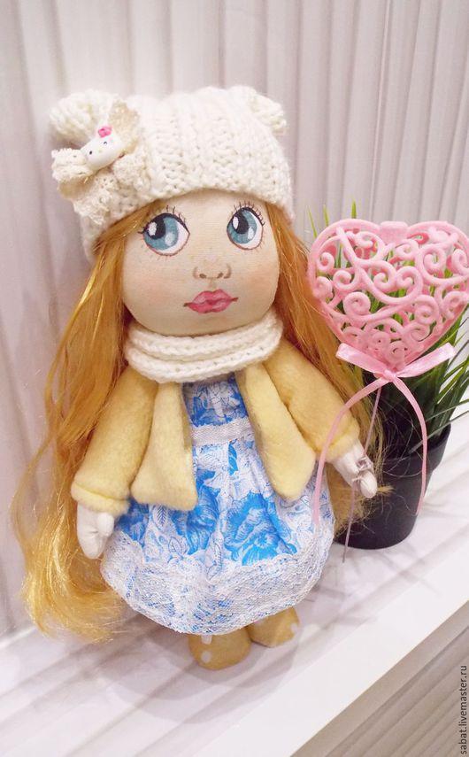 Коллекционные куклы ручной работы. Ярмарка Мастеров - ручная работа. Купить Текстильная, интерьерная кукла по имени Кризанта (Золотой цветок). Handmade.