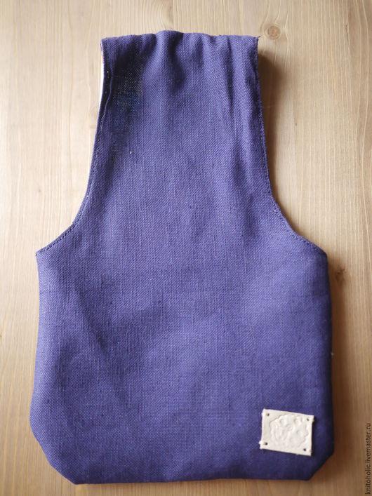 Органайзеры для рукоделия ручной работы. Ярмарка Мастеров - ручная работа. Купить Сумка вязальщицы (синяя с розами на голубом). Handmade. Комбинированный