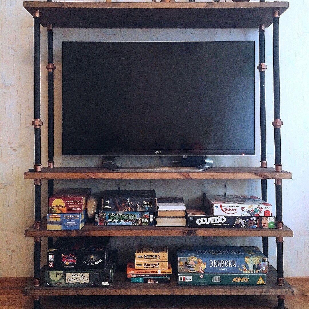 Мебель ручной работы. Ярмарка Мастеров - ручная работа. Купить Консоль под TV в стиле лофт. Handmade. Подставка, прихожая