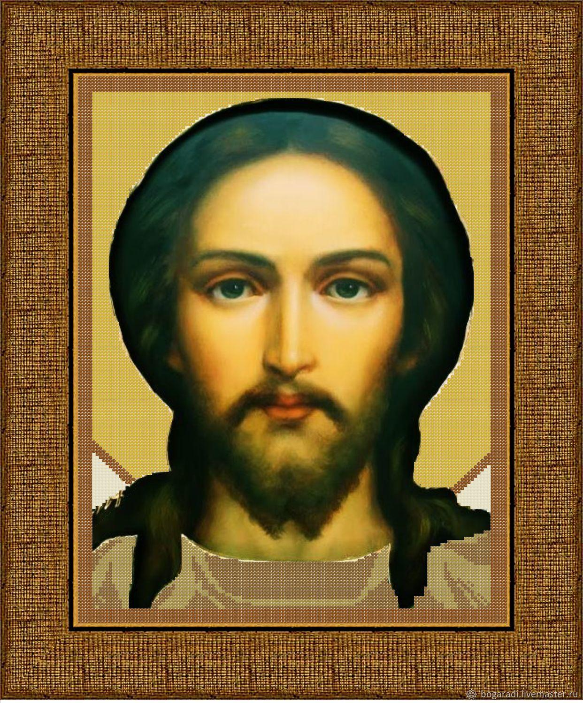 """Премиум набор вышивки бисером """"Иисус Христос"""" 30х40, Схемы для вышивки, Майма,  Фото №1"""