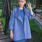 Одежда ручной работы. Ярмарка Мастеров - ручная работа Пальто крупной вязки оверсайз. Handmade.