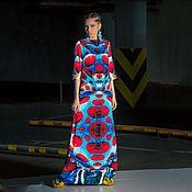 Одежда ручной работы. Ярмарка Мастеров - ручная работа Авторское шелковое платье Яёи Кусама. Handmade.