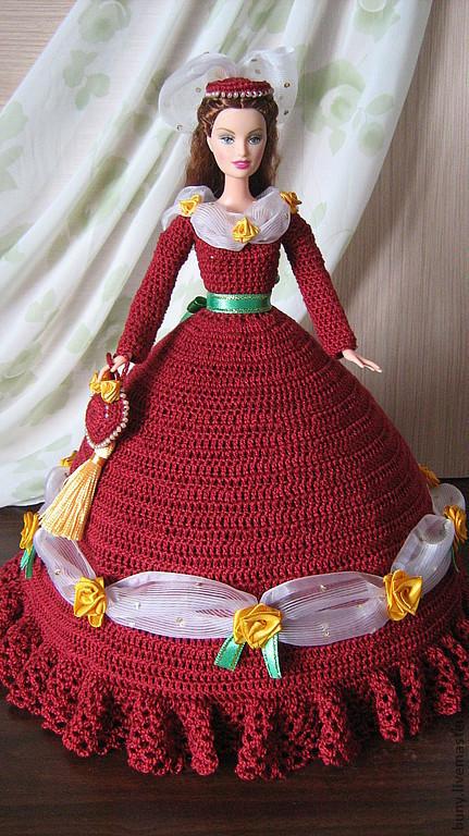Одежда для кукол ручной работы. Ярмарка Мастеров - ручная работа. Купить Рождественский бальный наряд времен королевы Виктории. Handmade.
