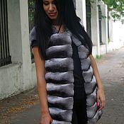 Одежда ручной работы. Ярмарка Мастеров - ручная работа Жилет из натуральной шиншиллы. Handmade.