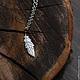 Кулоны, подвески ручной работы. Ярмарка Мастеров - ручная работа. Купить серебряный кулон перышко. Handmade. Серебряный, подвеска, серебро