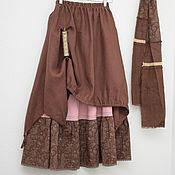 Одежда handmade. Livemaster - original item No. №215 Linen double boho skirt. Handmade.