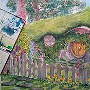 Картины и панно ручной работы. Ярмарка Мастеров - ручная работа Картина Акварель Шир Хоббитания. Handmade.