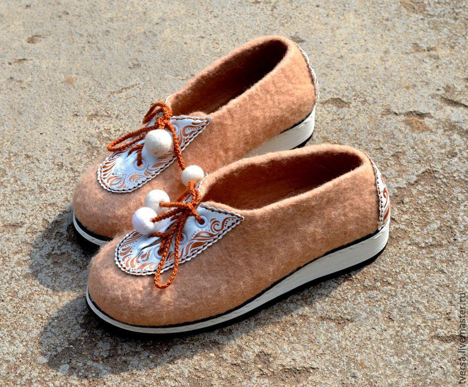 Обувь ручной работы. Ярмарка Мастеров - ручная работа. Купить Туфли женские  войлочные ручной работы ... 393136c134b
