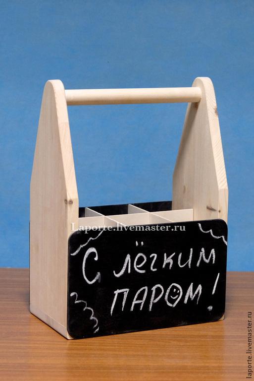 Пивной ящик для трех бутылок пива с грифельной доской