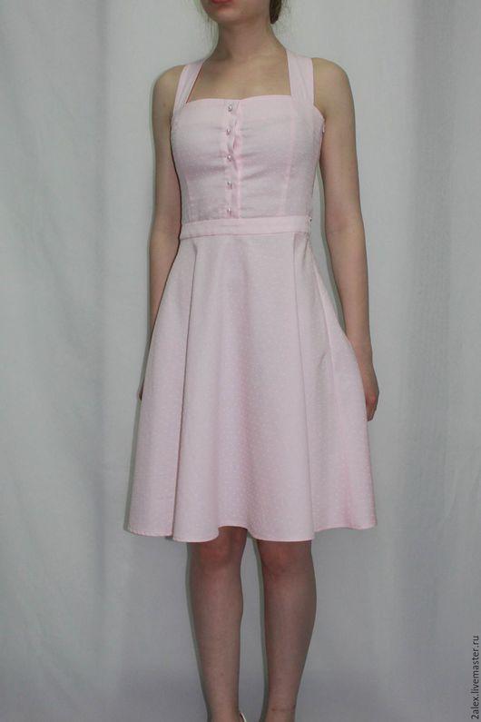 Платья ручной работы. Ярмарка Мастеров - ручная работа. Купить Платье-сарафан. Handmade. Розовый, хлопок 100%, платье сарафан