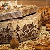 """Для дома и интерьера ручной работы. Ярмарка Мастеров - ручная работа Короб """"Сoffee"""". Handmade."""