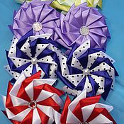 """Украшения ручной работы. Ярмарка Мастеров - ручная работа зажимы для волос """"Радуга цвета"""". Handmade."""