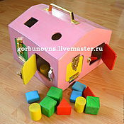 Куклы и игрушки handmade. Livemaster - original item House shape Sorter with snaps and rooms Developing Logical. Handmade.