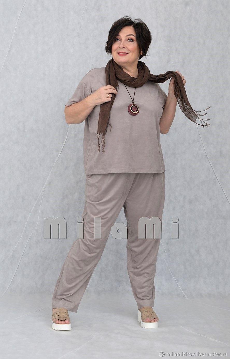 Блуза короткая широкая трикотаж замша серая Арт. 3751, Блузки, Киров, Фото №1