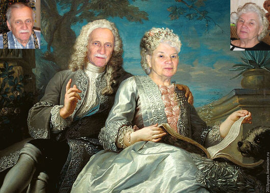 Люди, ручной работы. Ярмарка Мастеров - ручная работа. Купить Семейный портрет. Handmade. Портрет, подарок, фото, ретро фото