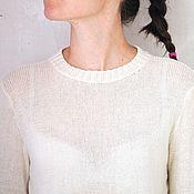Одежда ручной работы. Ярмарка Мастеров - ручная работа Пуловер базовый из 100% кашемира. Handmade.