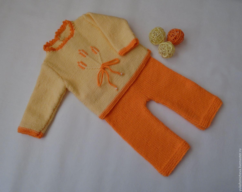 Вязание костюмчика для новорожденного