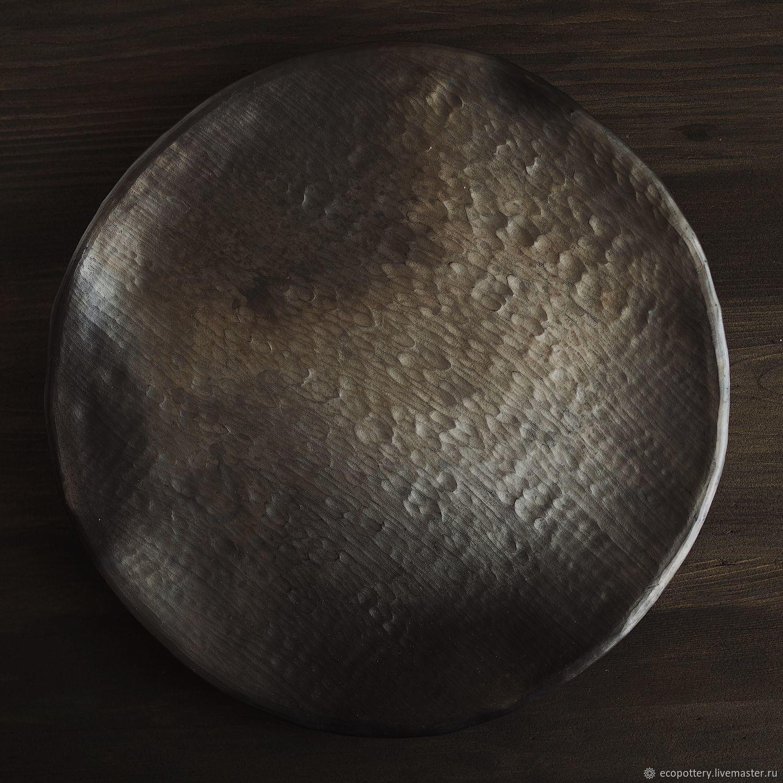 Тарелка керамическая. Техника дровяного обжига, Тарелки, Москва,  Фото №1