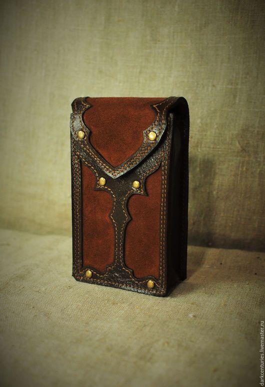 Гадания ручной работы. Ярмарка Мастеров - ручная работа. Купить Футляр для карт таро из натуральной кожи Initiated II. Handmade.