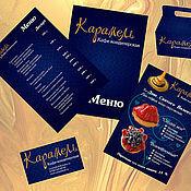 """Дизайн и реклама ручной работы. Ярмарка Мастеров - ручная работа Фирменный стиль кафе-кондитерской """"Карамель"""". Handmade."""