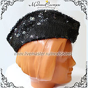 Аксессуары handmade. Livemaster - original item Forage cap with sequin Art.-062. Handmade.