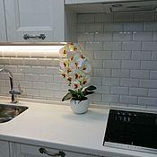 Растения ручной работы. Ярмарка Мастеров - ручная работа Орхидея латекс в керамическом кашпо. Handmade.