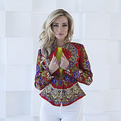 Одежда handmade. Livemaster - original item Jacket womens red summer jacket. Handmade.