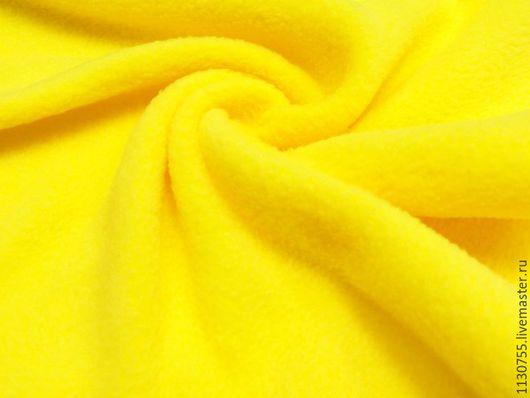 Шитье ручной работы. Ярмарка Мастеров - ручная работа. Купить Новинка ! Ткань флис полартек желтый  390 гр.. Handmade.