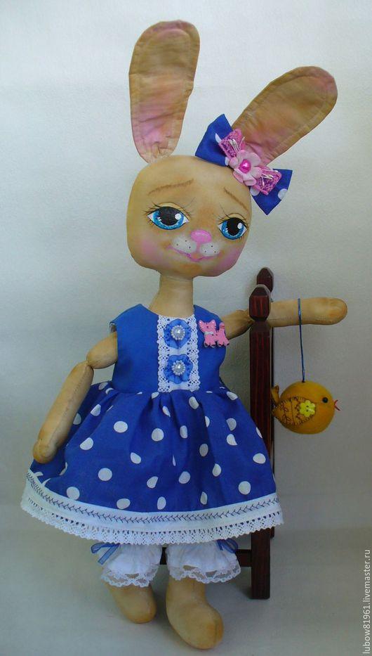 Ароматизированные куклы ручной работы. Ярмарка Мастеров - ручная работа. Купить Зайка Стеша. Handmade. Тёмно-синий, голубые глаза