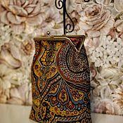 Сумка с фермуаром ручной работы. Ярмарка Мастеров - ручная работа Сумка с фермуаром: сумочка из платка. Handmade.