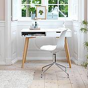 Столы ручной работы. Ярмарка Мастеров - ручная работа Белый письменный стол из массива White. Handmade.