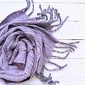 Аксессуары ручной работы. Ярмарка Мастеров - ручная работа Шарф Lavender меринос/твид    домоткань. Handmade.