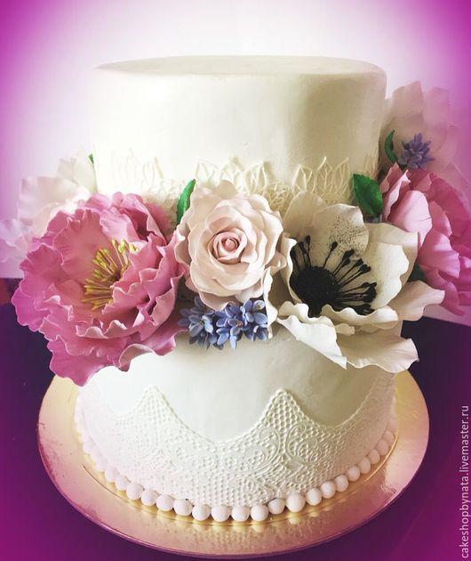 Свадебные цветы ручной работы. Ярмарка Мастеров - ручная работа. Купить Цветы для свадебного торта. Handmade. Комбинированный