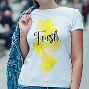 T-shirts handmade. Livemaster - original item Lemon Freshness T-Shirt. Handmade.