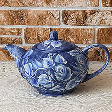 Tableware handmade. Livemaster - original item Teapot painted