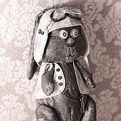 Куклы и игрушки ручной работы. Ярмарка Мастеров - ручная работа Авторская игрушка заяц. Мартовский заяц-летчик. Handmade.