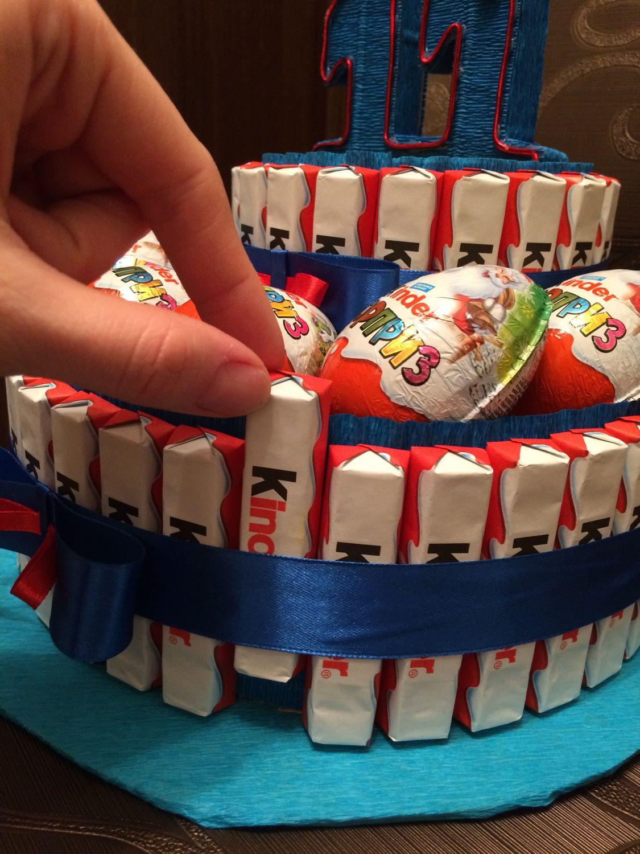 Как сделать торт из киндер шоколада своими руками пошагово 68