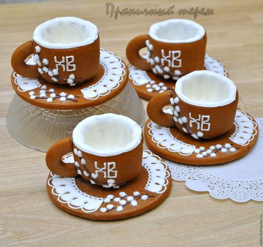 """Кулинарные сувениры ручной работы. Ярмарка Мастеров - ручная работа. Купить """"Пасхальная верба"""" - пряничные чашечки для кофе или чая. Handmade."""