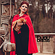Верхняя одежда ручной работы. Красная тёплая накидка с капюшоном. Dudu-dress. Ярмарка Мастеров. Накидка, ТРИКОТАЖ АНГОРКА