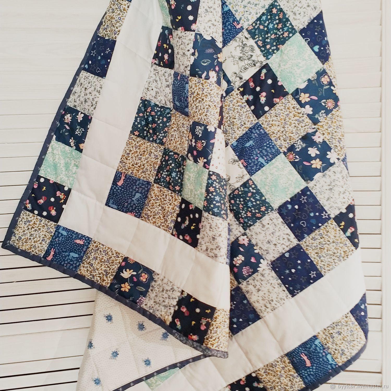 Подарок мальчику СЛАДКИЙ СОН комплект одеяло лоскутное и подушечка, Подарки для новорожденных, Москва,  Фото №1