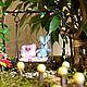 """Интерьерные композиции ручной работы. Минисадик """"Лесная сказка"""". Snow-cat. Ярмарка Мастеров. Мини-садик, композиция из цветов, дерево"""