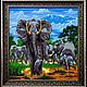 Животные ручной работы. Ярмарка Мастеров - ручная работа. Купить Картина бисером Сафари выполнена в технике двойного мозаичного пле. Handmade.