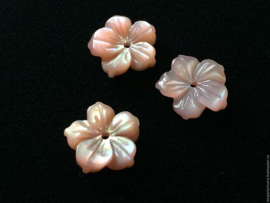 """Для украшений ручной работы. Ярмарка Мастеров - ручная работа. Купить Бусина """"Розовый стиль"""" 10 мм, перламутр. Handmade."""