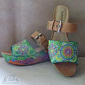 Обувь ручной работы handmade. Livemaster - original item Clogs: Painting on shoes. Clogs