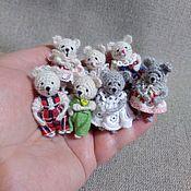Мягкие игрушки ручной работы. Ярмарка Мастеров - ручная работа Крошечные мышки 3-4см. Handmade.