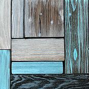 Картины и панно handmade. Livemaster - original item Wooden panel Tundra. Wall panel loft.Wood panel. Handmade.